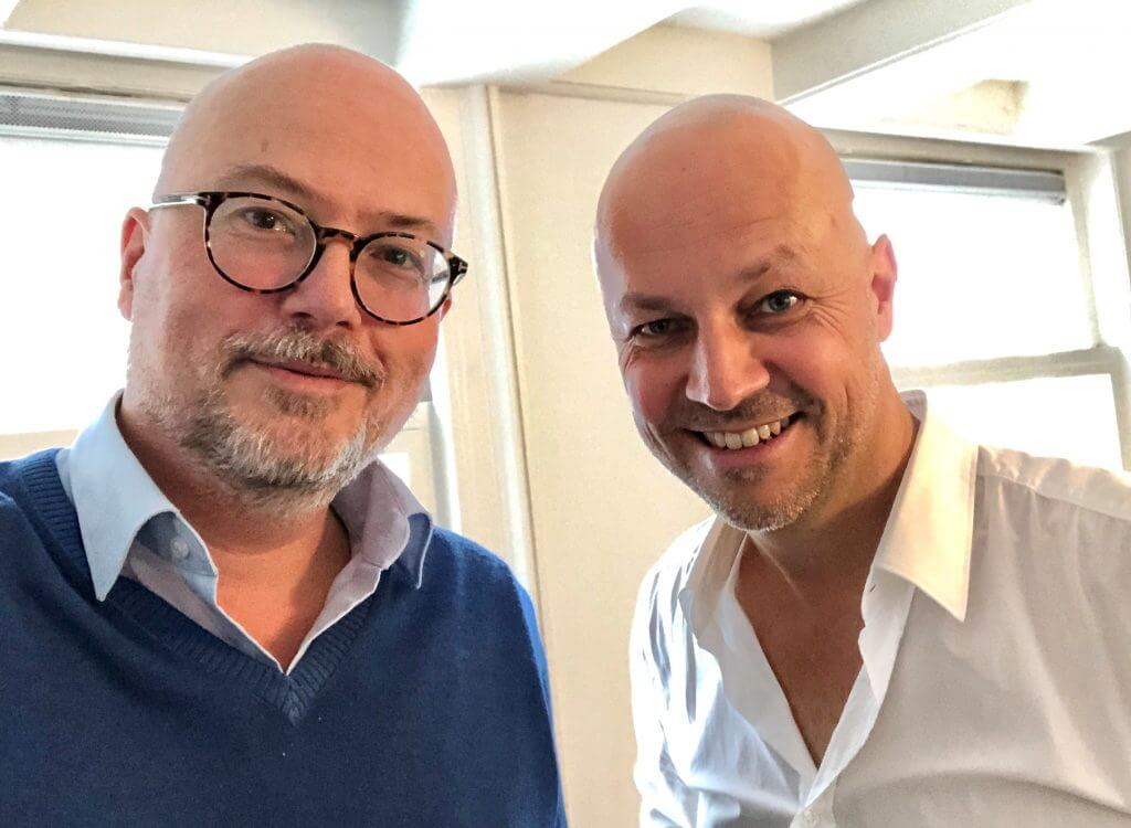 Floris Hulsmann met Roel Stavornius