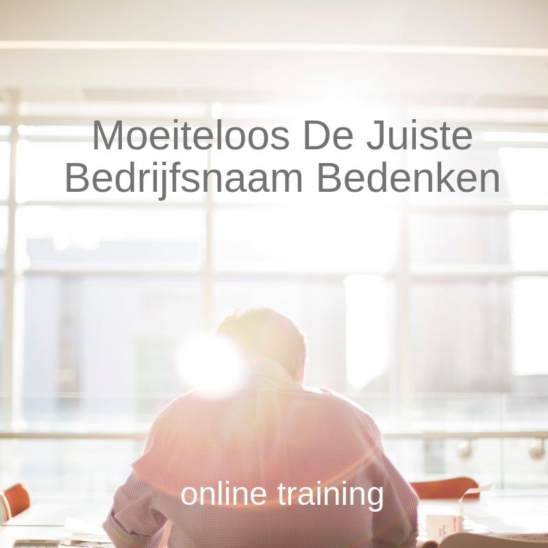 Moeiteloos de juiste bedrijfsnaam bedenken training